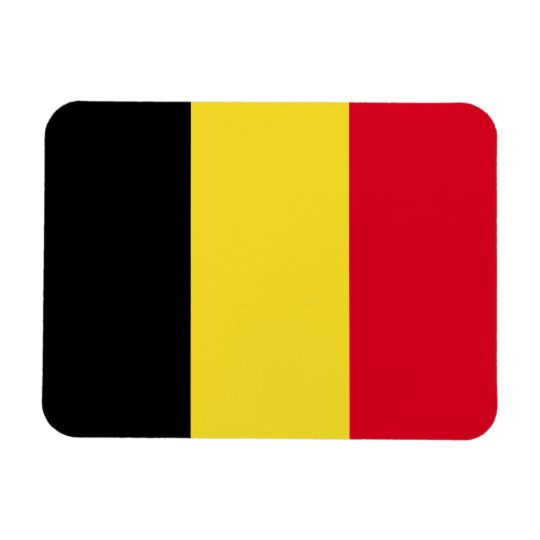 Belgium Flag Rectangular Photo Magnet