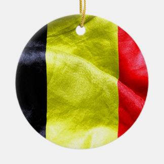 Belgium Flag Round Ceramic Decoration