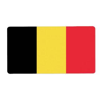 Belgium Flag Shipping Label