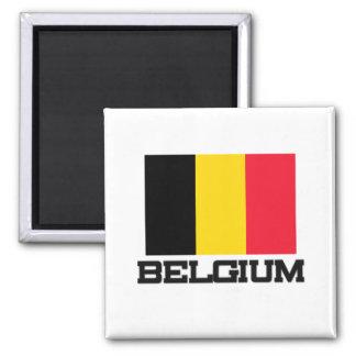 Belgium Flag Square Magnet