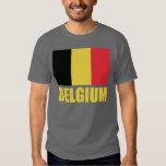 Belgium Flag Yellow Text Shirts