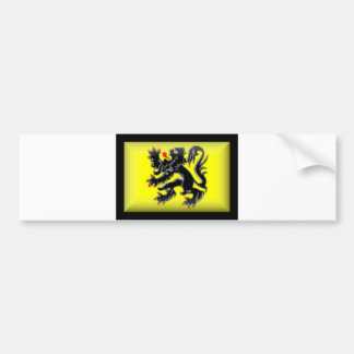 Belgium-Flanders Flag Bumper Sticker