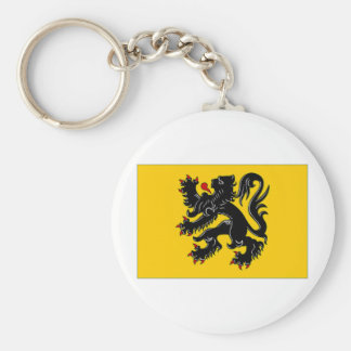 Belgium Flemish Region Flag Key Ring