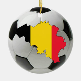 Belgium football soccer ornament