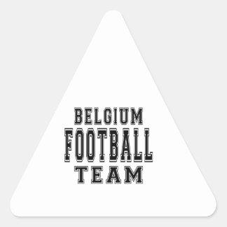 Belgium Football Team Triangle Sticker