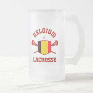 Belgium Frosted Glass Beer Mug