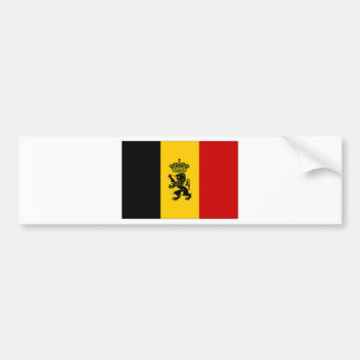 Belgium Government Ensign Flag Bumper Sticker