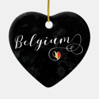 Belgium Heart, Christmas Tree Ornament, Belgian Christmas Ornament