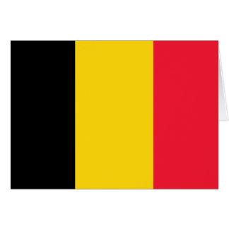 Belgium High quality Flag Card