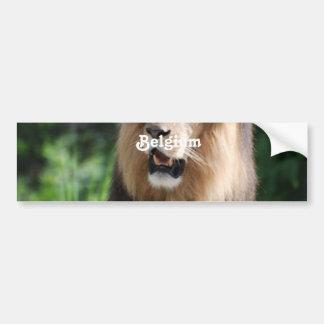 Belgium Lion Bumper Sticker