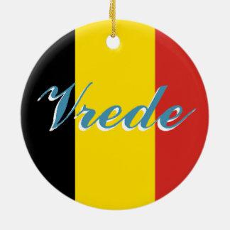 Belgium Love/Peace Keepsake Ornament