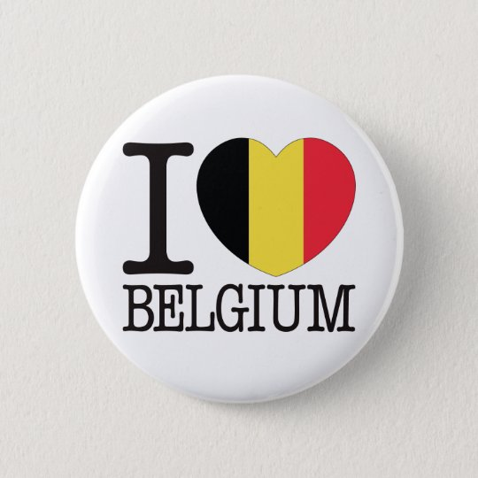 Belgium Love v2 6 Cm Round Badge