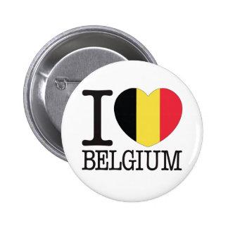 Belgium Love v2 6 Cm Round Badge