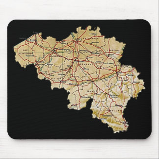 Belgium Map Mousepad