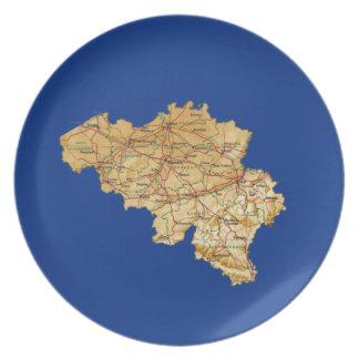 Belgium Map Plate