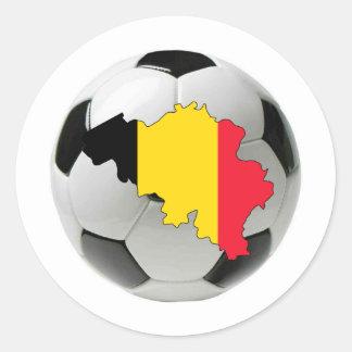 Belgium national team classic round sticker