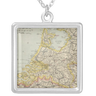 Belgium, Netherlands 2 Silver Plated Necklace