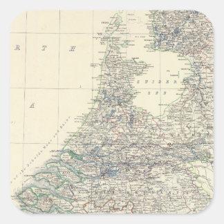 Belgium, Netherlands Square Sticker