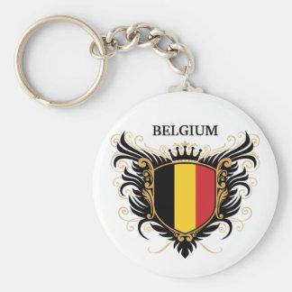 Belgium [personalize] basic round button key ring