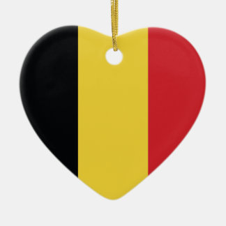 Belgium Plain Flag Christmas Ornament