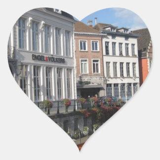 Belgium River 2 Heart Stickers