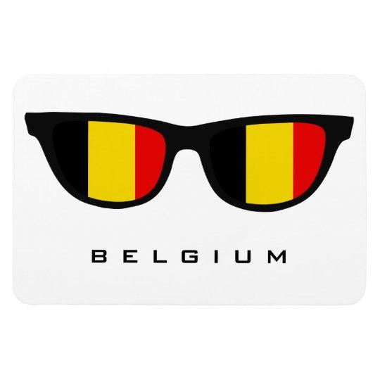 Belgium Shades custom text & colour magnet