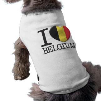 Belgium Sleeveless Dog Shirt