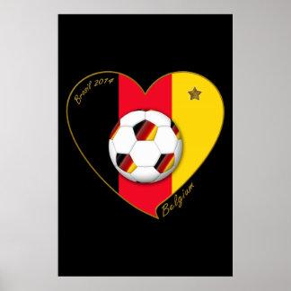 """BELGIUM"" Soccer 2014 and Belgian Football Team Posters"