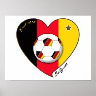 """""""BELGIUM"""" Soccer 2014. Soccer of Belgium Print"""