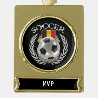 Belgium Soccer 2016 Fan Gear Gold Plated Banner Ornament