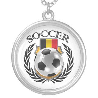 Belgium Soccer 2016 Fan Gear Round Pendant Necklace