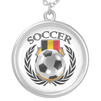 Belgium Soccer 2016 Fan Gear Silver Plated Necklace