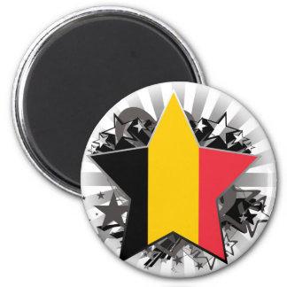 Belgium Star 6 Cm Round Magnet
