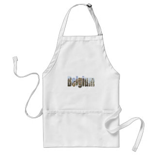 Belgium tourist attractions in letters apron