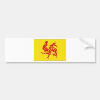 Belgium Walloon Region Flag Bumper Sticker