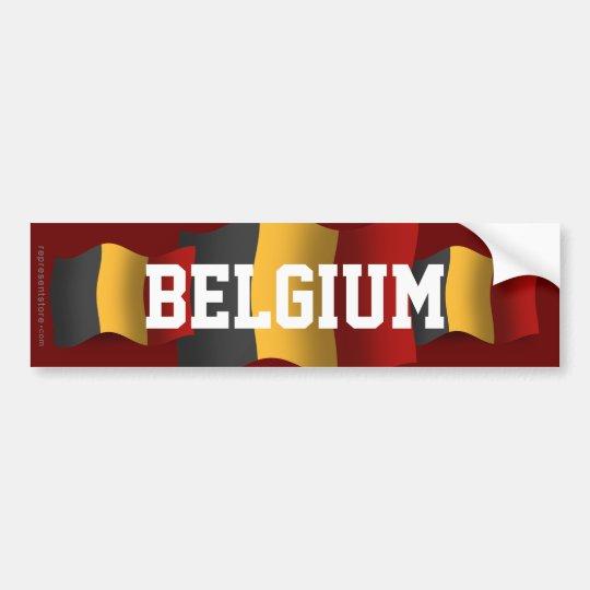 Belgium Waving Flag Bumper Sticker