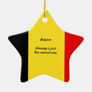 Belgium winners ceramic star decoration