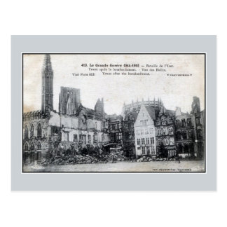 Belgium Ypres after the bombardment Postcards
