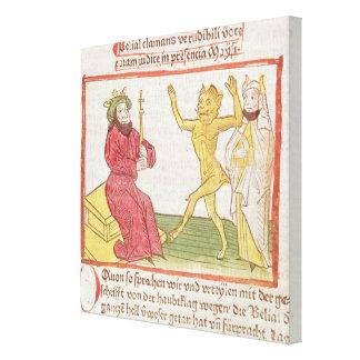 Belial dances before King Solomon Canvas Print