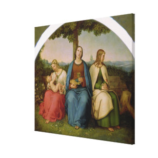 Belief, Hope and Love, 1819 Canvas Print