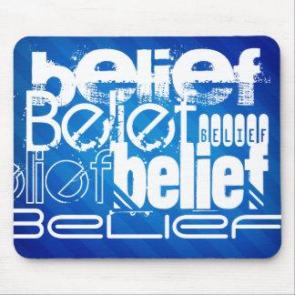 Belief; Royal Blue Stripes Mouse Pad