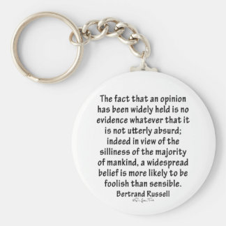 Beliefs by Bertrand Russell Basic Round Button Key Ring