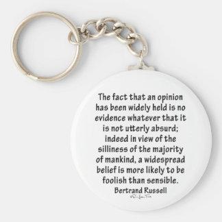 Beliefs by Bertrand Russell Keychain