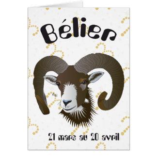 Bélier 21 Mars outer 20 avril Cartes de vœux Greeting Card