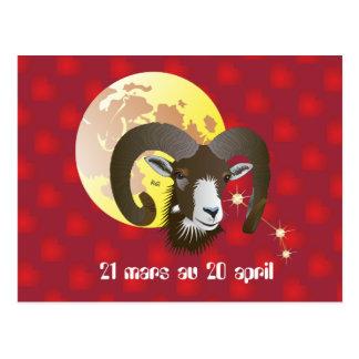 Bélier 21 Mars outer 20 avril Cartes de vœux Postcard