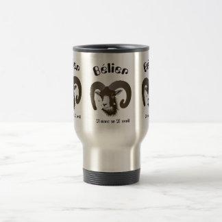 Bélier 21 Mars outer 20 avril Tasses Stainless Steel Travel Mug