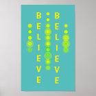 Believe Abstract Art Motivational Poster