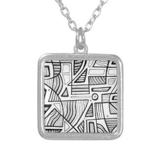 Believe Achievement Kind Familiar Square Pendant Necklace