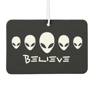 Believe Aliens Car Air Freshener
