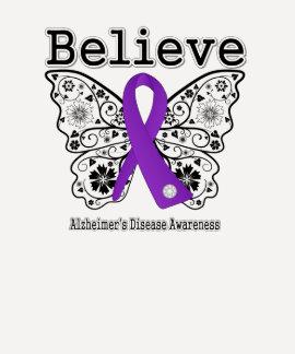 Believe Alzheimers Disease Tee Shirt